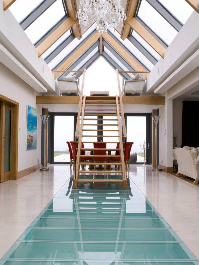 Приставная лестница с перилами