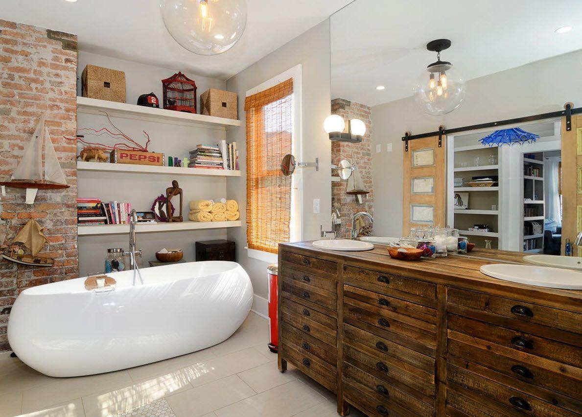 Нестандартный подход к дизайну ванной