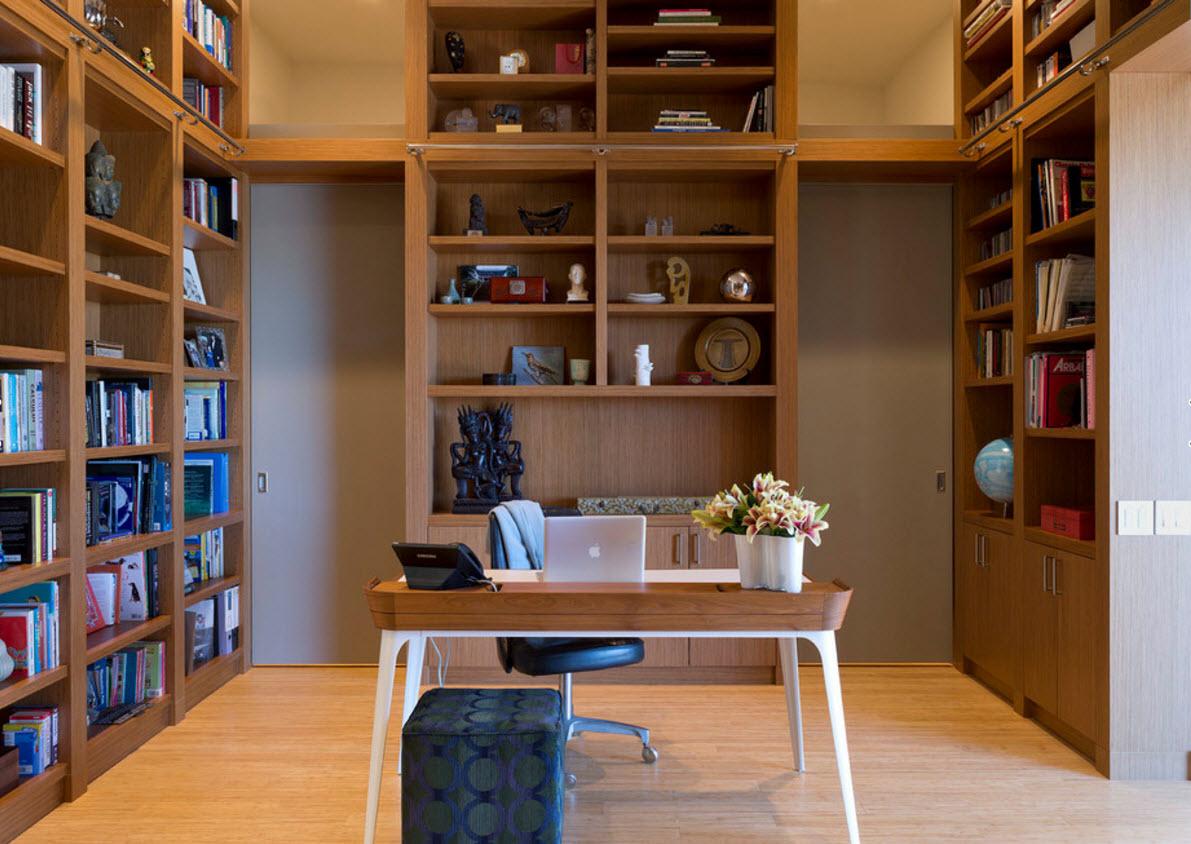 Книжные стеллажи от пола до потолка