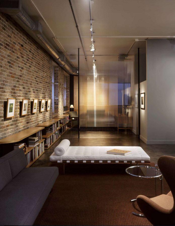 Кирпичная стена в дизайне интерьера