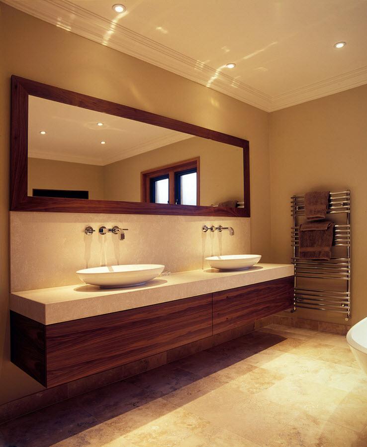 Теплая атмосфера в ванной