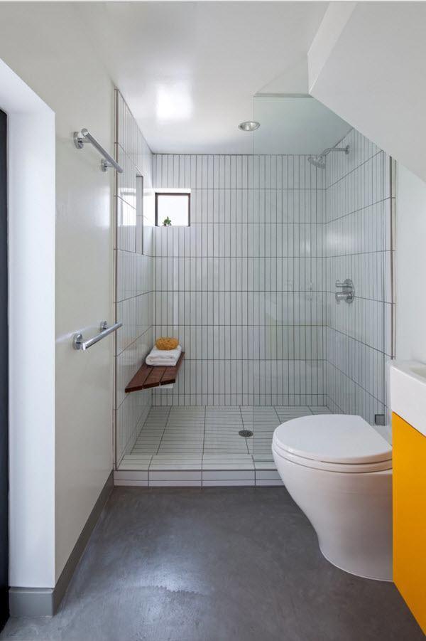Светлый интерьер ванной комнаты