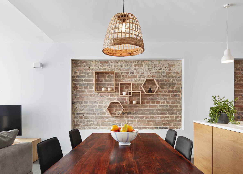 Оригинальное оформление столовой зоны