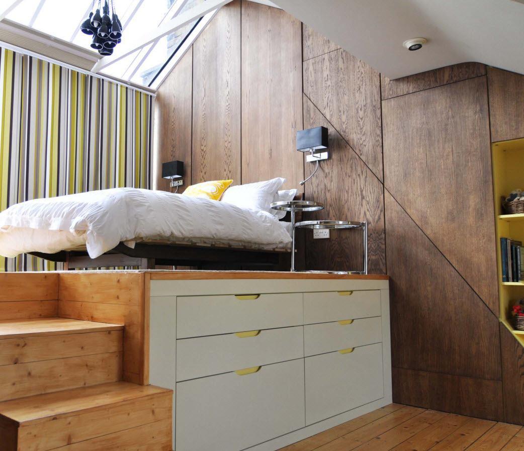 Спальная зона на подиуме