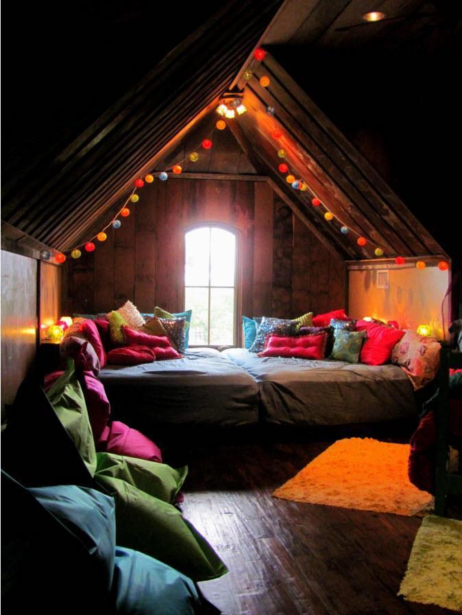 На уютном чердаке