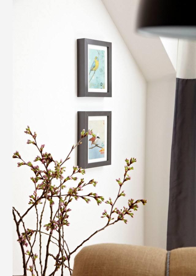 Настенный декор и живые цветы