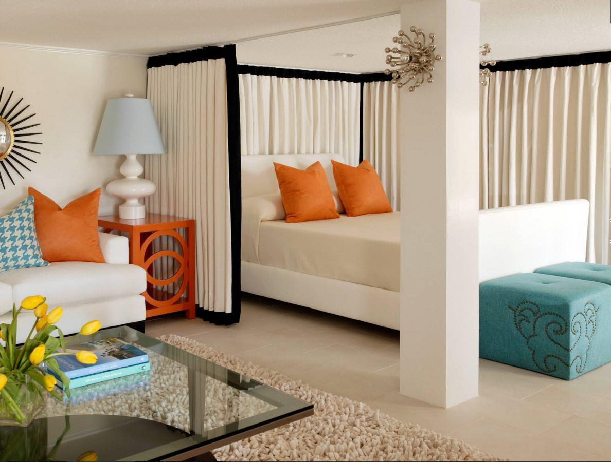 Спальня за шторой