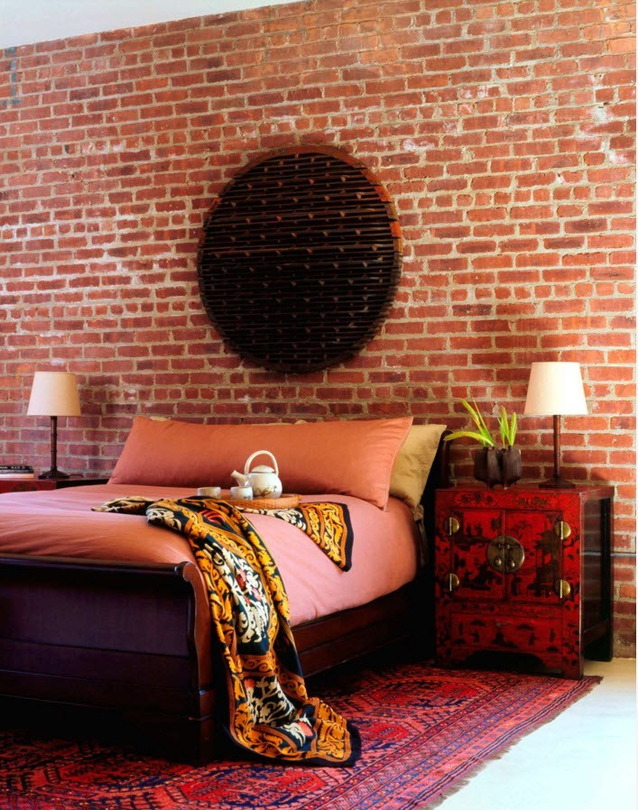 Колоритное оформление спальни