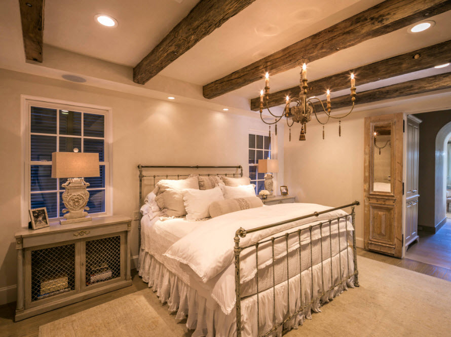 Сельские мотивы в интерьере спальни
