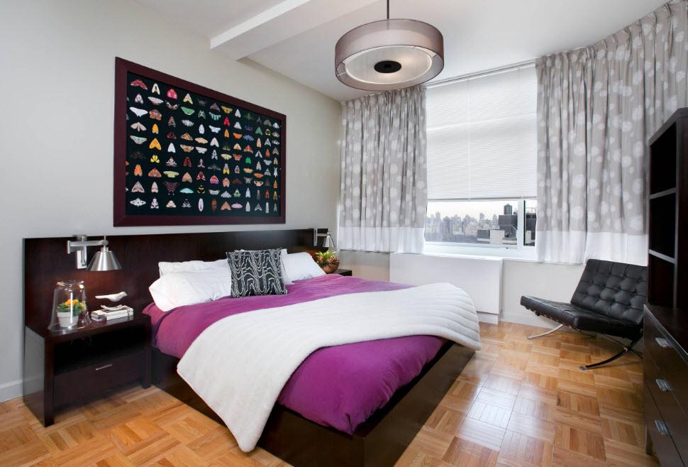 Линолеум в спальной комнате