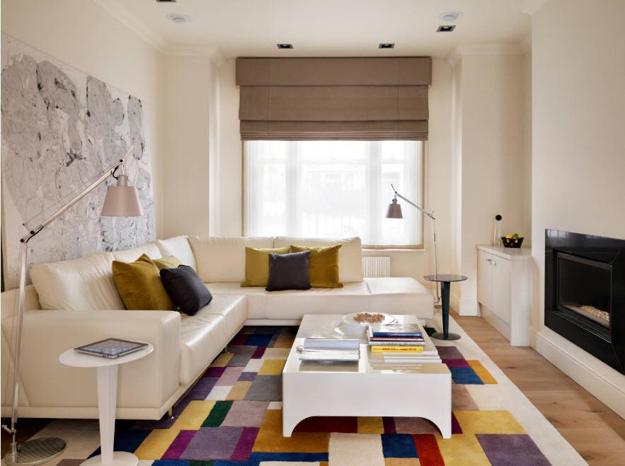 Белоснежный кожаный диван