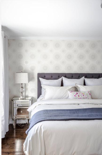Оформление потолка спальной комнате