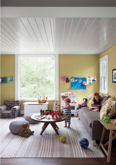 Расположение дивана в детской