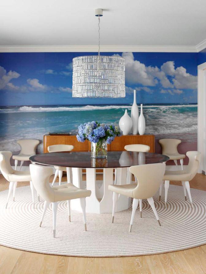 Морской пейзаж в столовой