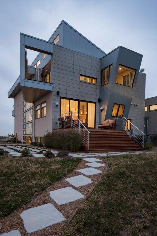 Необычная геометрия фасада