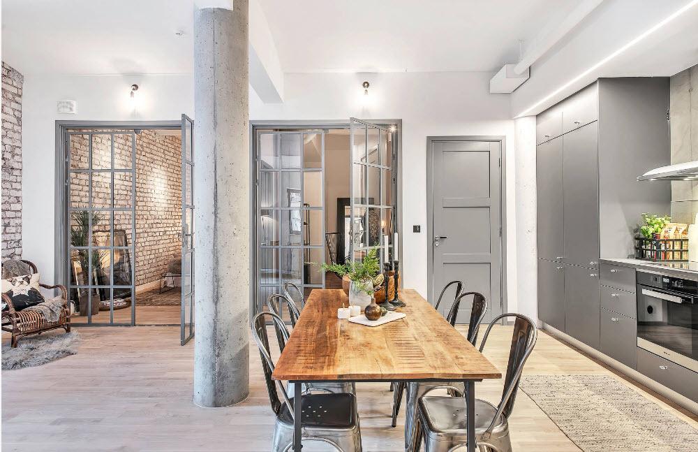 Кухня и столовая в одном помещении
