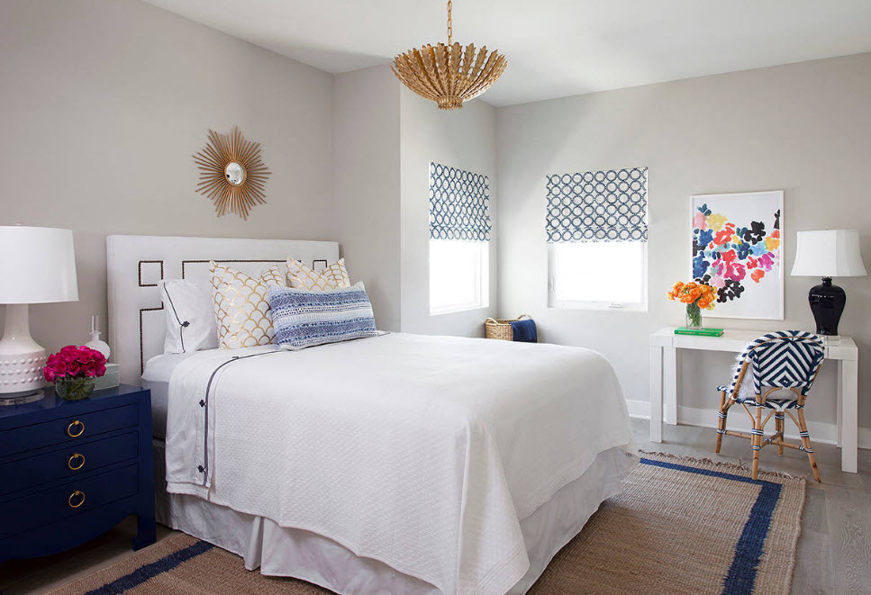 Зонирование спального помещения
