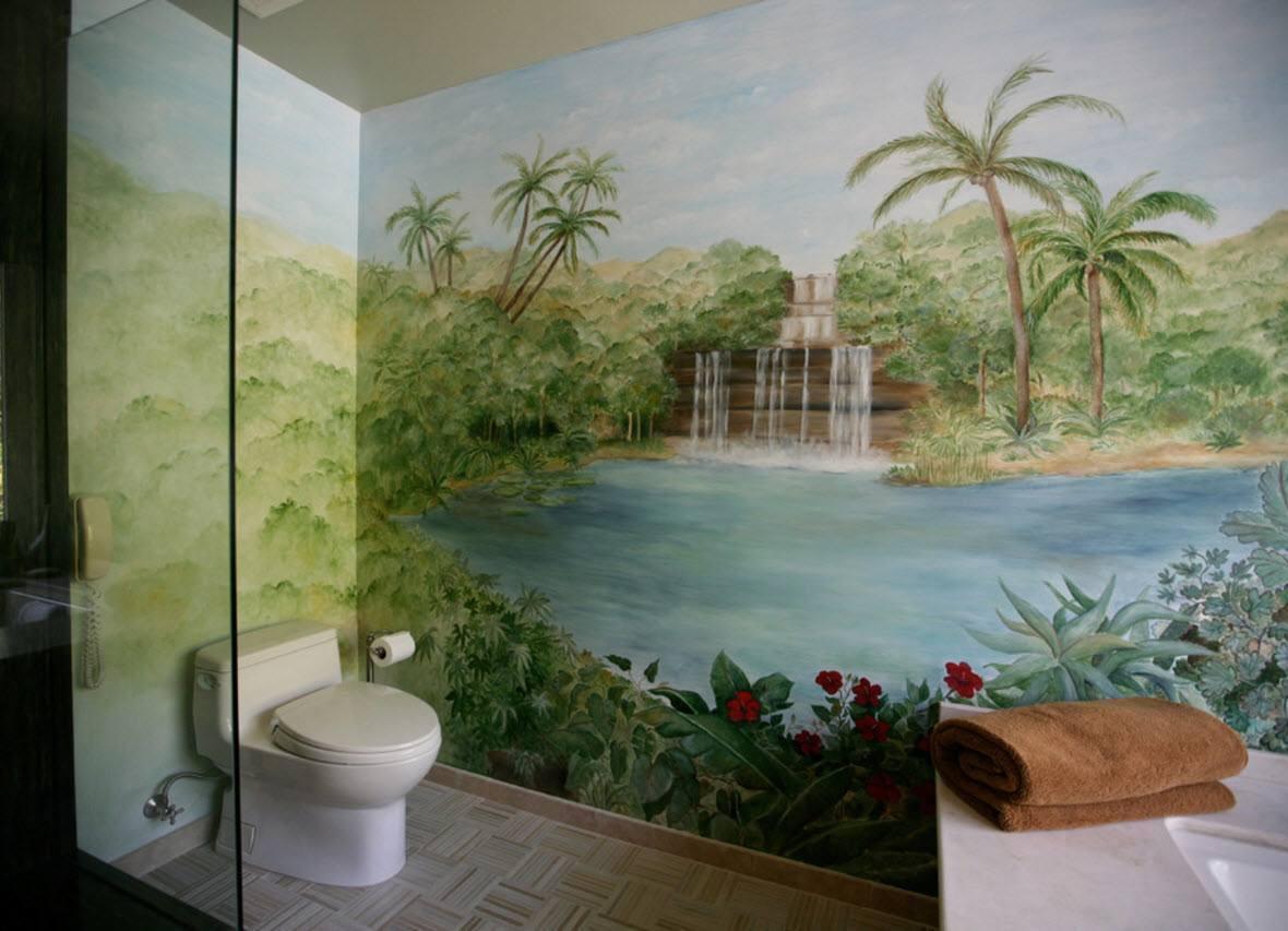 Колоритный рисунок для ванной
