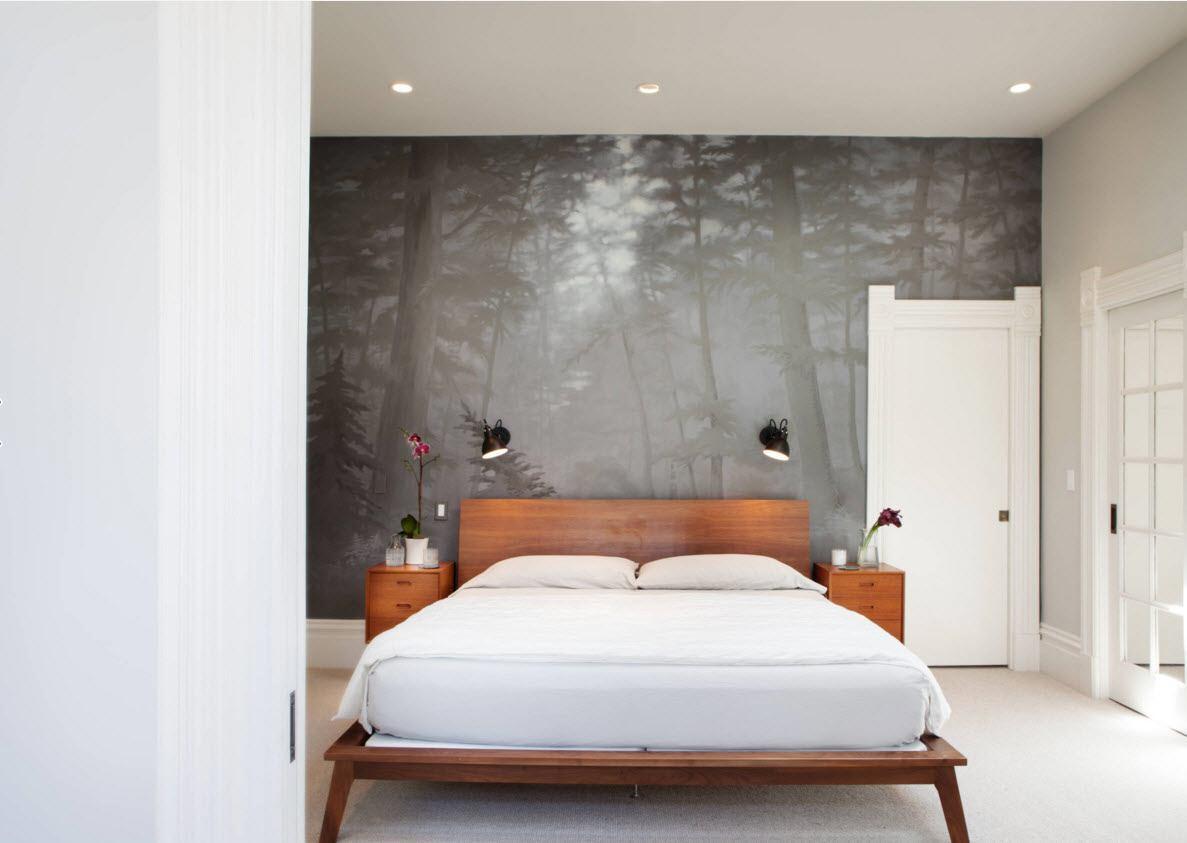Туманный лес в спальне