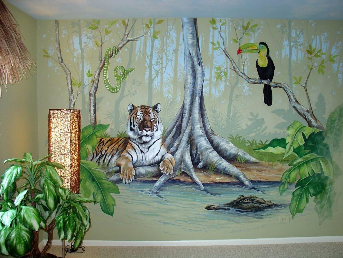 Джунгли на стене