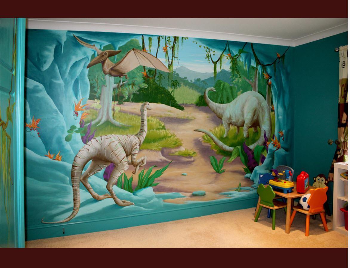 Динозавры на стенах детской