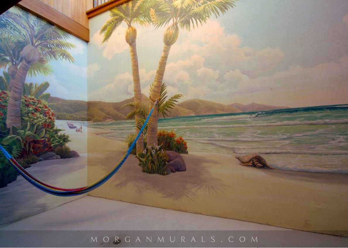 Пляж на стенах
