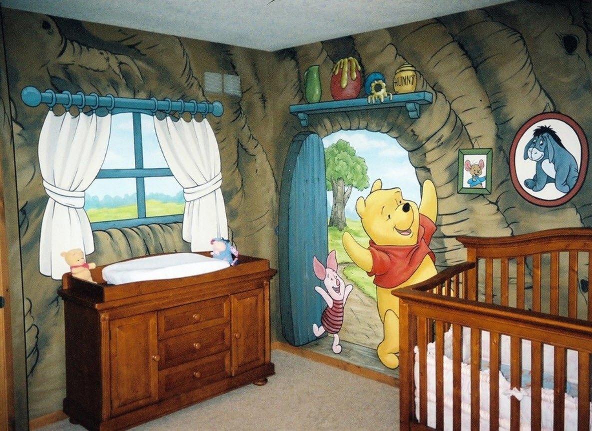 Роспись комнаты для младенца