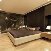 Фотообои в интерьере современной гостиной
