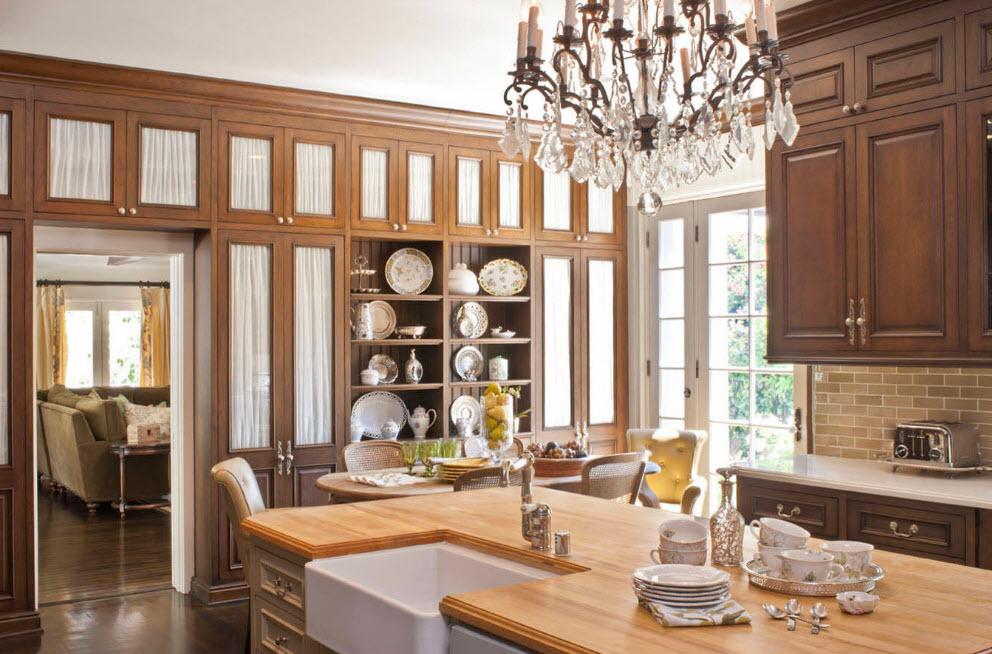 Кухонные фасады с тканью