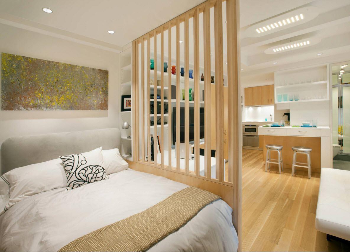 Квартира в белоснежно-древесных тонах