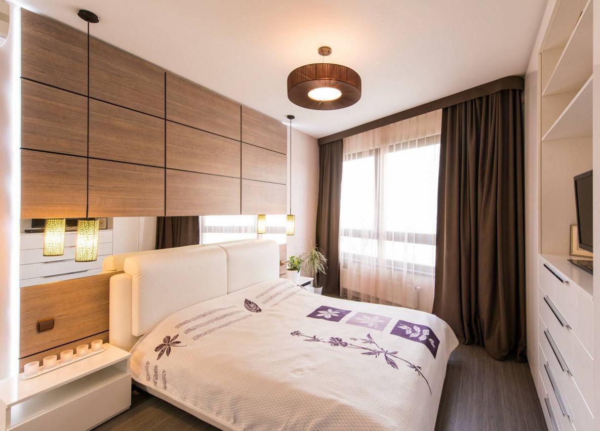 Теплая палитра спального помещения