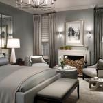 Зона гостиной в интерьере спальни