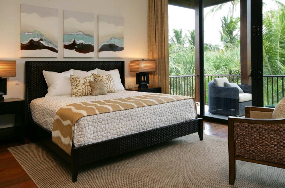 Кровать из ротанга