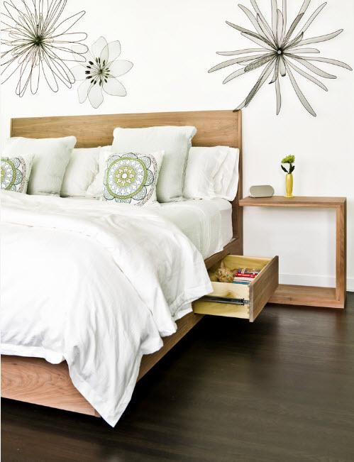 Хранение в основании кровати
