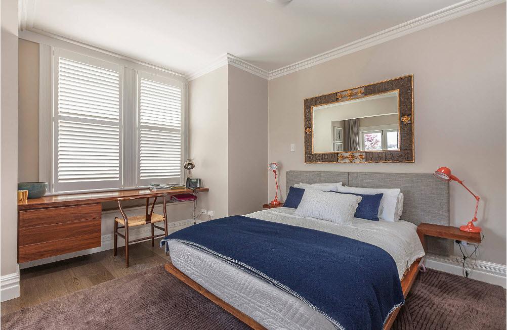 Мини-кабинет в спальне