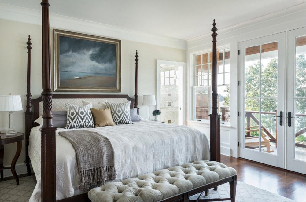 Кровать для современной спальни