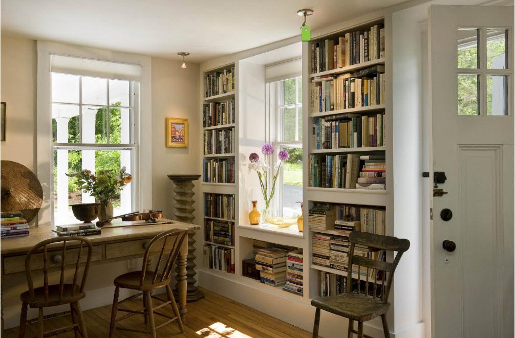 Стеллажи для книг в кабинете