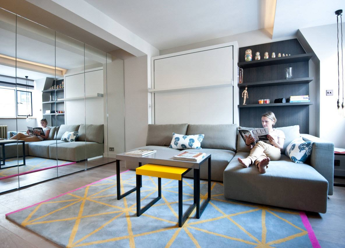 Модульный диван для многофункционального помещения