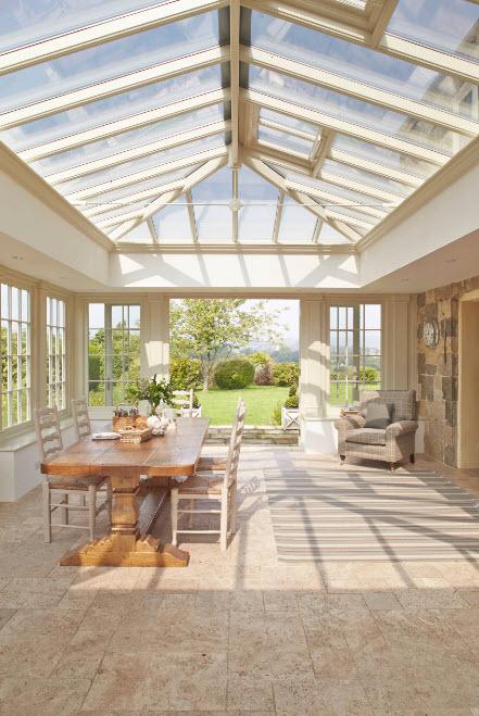 Сводчатая крыша из стекла