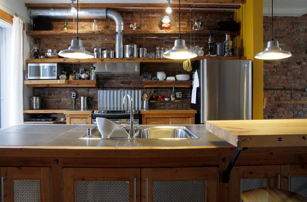 Необычная кухня-лофт