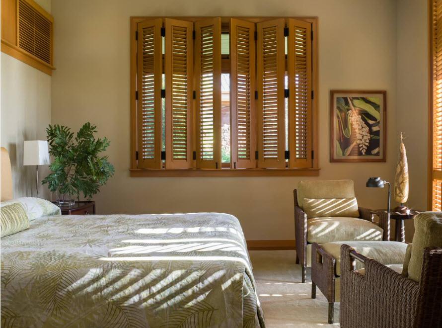 Для спальни в тропическом стиле