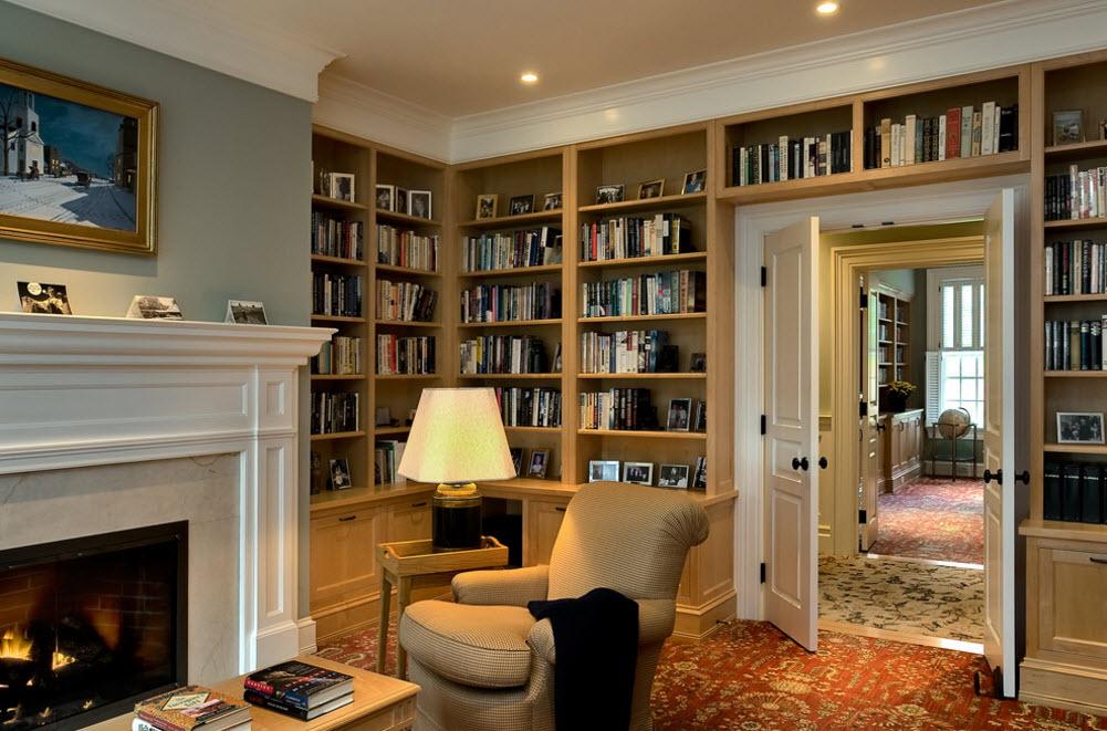 Книжные шкафы в интерьере фото