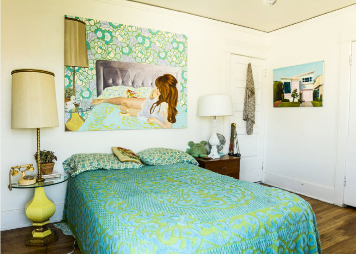 Колоритное покрывало для оригинальной спальни