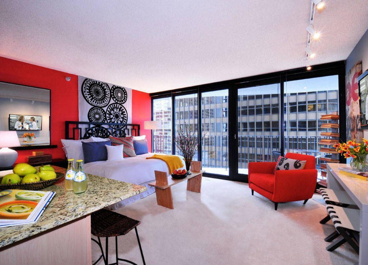Яркий дизайн помещения