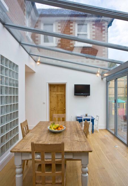 Стены и крыша из стекла