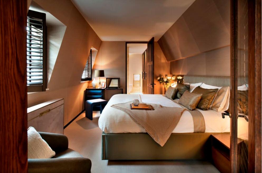 Асимметрична спальня
