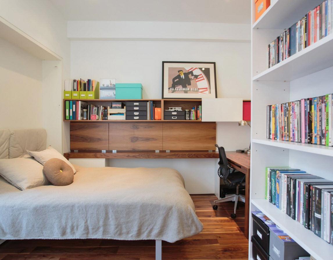 Стеллажи в спальном секторе