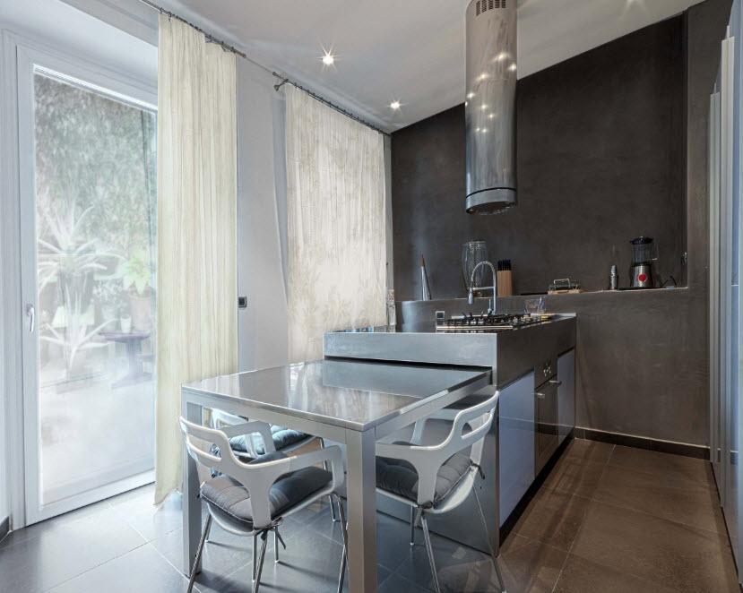 Тюль для современной кухни