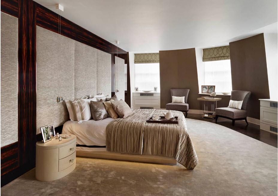 Спальня в форме полукруга
