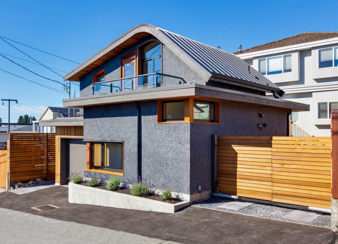 Необычная скатная крыша